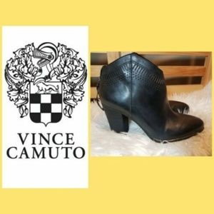 VINCE CAMUTO LASER CUT BOOTIES ANKLE BOOTS